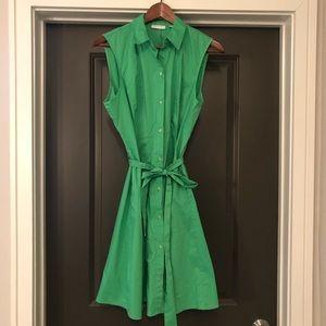 New York & Company Womens Dress Green Size L